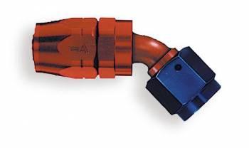Aeroquip - Aeroquip Reusable Aluminum -06 AN 45° Non-Swivel Hose End