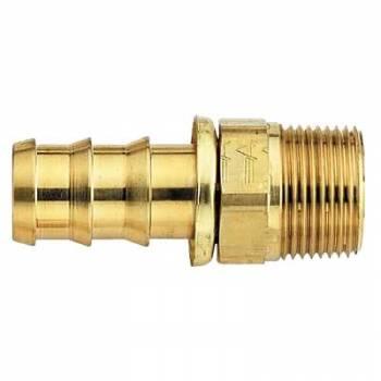 "Aeroquip - Aeroquip Brass SOCKETLESS™ #8 Straight Male Pipe Fitting - 3/8"" NPT"