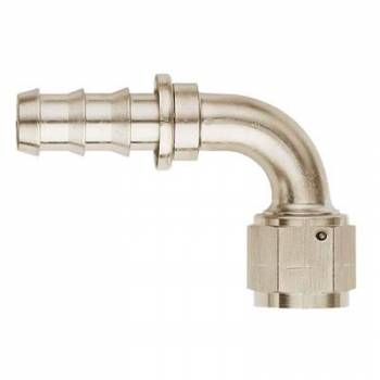Aeroquip - Aeroquip Aluminum -08 AN SOCKETLESS™ 90° Hose End - Nickel Plated