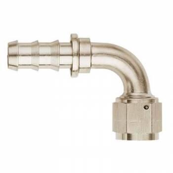 Aeroquip - Aeroquip Aluminum -10 AN SOCKETLESS™ 90° Hose End - Nickel Plated