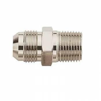 "Aeroquip - Aeroquip Aluminum -10 Male, 3/8"" NPT Thread Fuel Pump Adapter - Nickel-Plated"