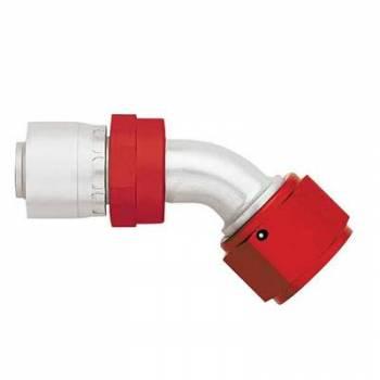 Aeroquip - Aeroquip Lightweight Aluminum -10 AN 45° Crimp Swivel Hose End