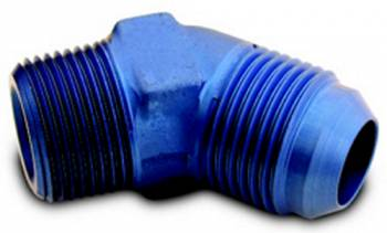 """A-1 Performance Plumbing - A-1 Performance Plumbing -08 AN to 1/4"""" NPT 45° Adapter"""