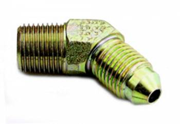 "A-1 Performance Plumbing - A-1 Performance Plumbing 45° Male Elbow -03 AN to 1/8"" NPT Steel Brake Fitting"