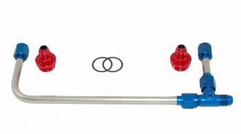AED Performance - AED Polished Stainless Steel Dual Feed Carburetor Fuel Line Kit - Fits Holley 4150