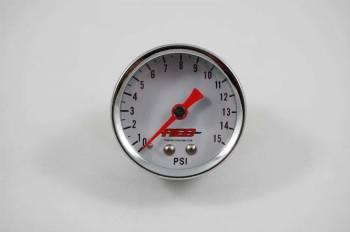 "AED Performance - AED 1.5"" Screw-In Fuel Pressure Gauge - 0-15 PSI"