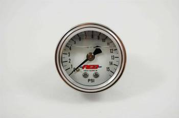 "AED Performance - AED 1.5"" Screw-In Fuel Pressure Gauge - 0-15 PSI - Liquid Filled"