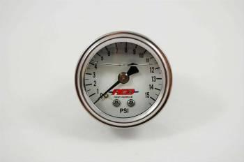 """AED Performance - AED 1.5"""" Screw-In Fuel Pressure Gauge - 0-15 PSI - Liquid Filled"""