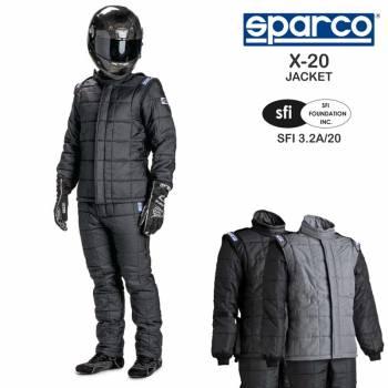 Sparco 001157X20J68NGR Suit X20 Jckt Sfi-20 68 Blk//Gr