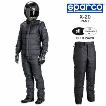 Sparco X-20 Drag Racing Pants 001157X20P