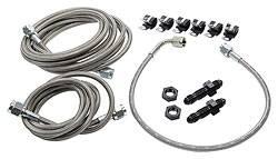 Allstar Performance - Allstar Performance Front End Brake Line Kit For Dirt Modifieds w/ OEM Calipers