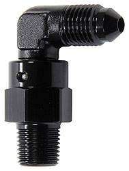 "Allstar Performance - Allstar Performance 90 Degree Swivel 1/8"" NPT to Male  -3 - Black"