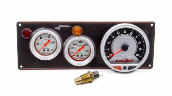 Longacre Racing Products - Longacre AccuTech Sportsman/SMI 2 Gauge Panel - Black - w/Tach WT/OP