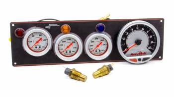 Longacre Racing Products - Longacre AccuTech Sportsman/SMI 3 Gauge Panel - Black - w/Tach OP/WT/OT
