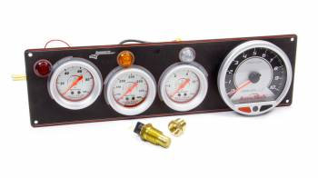 Longacre Racing Products - Longacre AccuTech Sportsman/SMI 3 Gauge Panel - Black - w/Tach WT/OP/FP