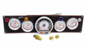 Longacre Racing Products - Longacre AccuTech Sportsman/SMI 4 Gauge Panel - Black - w/Tach OP/WT/OT/FP