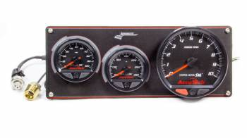 Longacre Racing Products - Longacre AccuTech SMI 2 Gauge Panel Blk w/Tach OP/WT