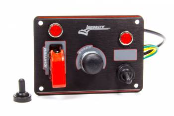 Longacre Racing Products - Longacre Ignition Panel Black w/ 1 Acc. and Pilot Light