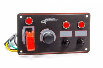 Longacre Racing Products - Longacre Ignition Panel Black w/2 Acc. and Pilot Light