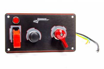 Longacre Racing Products - Longacre Ignition Panel Black w/Batt Disconnect