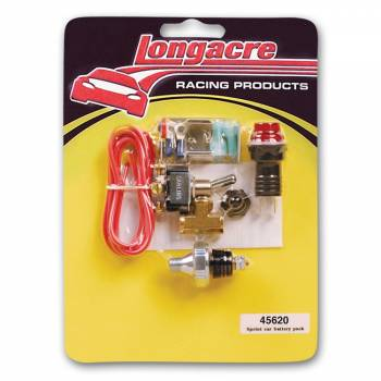 Longacre Racing Products - Longacre Low oil pressure warning lite kit w/ Battery Pack