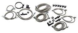 Allstar Performance - Allstar Performance Brake Line Kit For Dirt Modifieds w/ Aftermarket Calipers