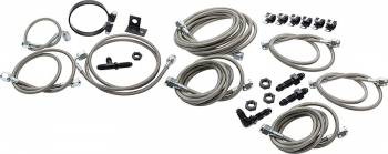 Allstar Performance - Allstar Performance Brake Line Kit For Dirt Late Models w/ Aftermarket Calipers