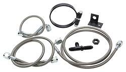 Allstar Performance - Allstar Performance Rear End Brake Line Kit For Dirt Modifieds w/ OEM Calipers