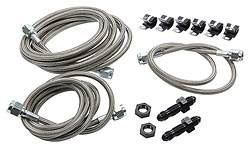 Allstar Performance - Allstar Performance Front End Brake Line Kit For Dirt Modifieds w/ Aftermarket Calipers