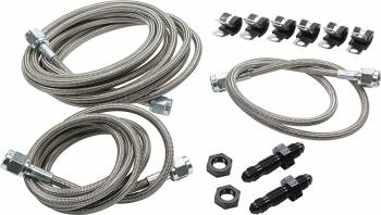 Allstar Performance - Allstar Performance Front End Brake Line Kit For Dirt Late Models w/ Aftermarket Calipers