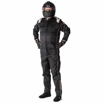Velocity Pro Stock 2-Piece Race Suit 2016 - Black/Silver