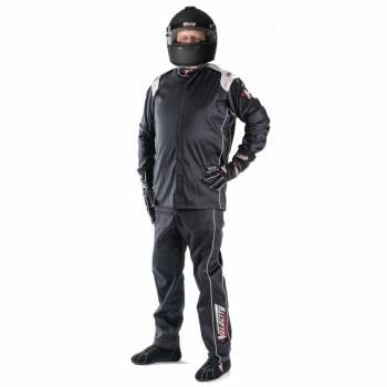 Velocity Super Stock 2-Piece Race Suit 2016 - Black/Silver 16102-103-19