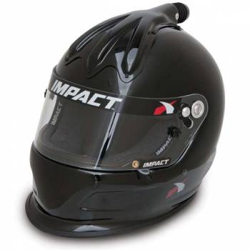 Impact - Impact Super Charger Top Air Helmet - Large - Black
