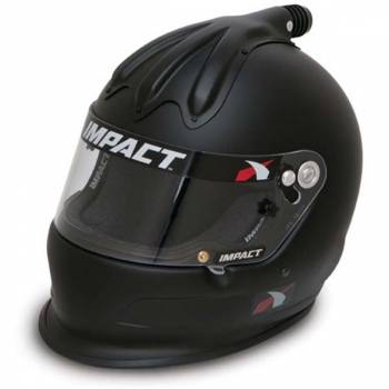 Impact - Impact Super Charger Top Air Helmet - Large - Flat Black