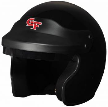 G-Force GF1 Open Face Helmet - Black