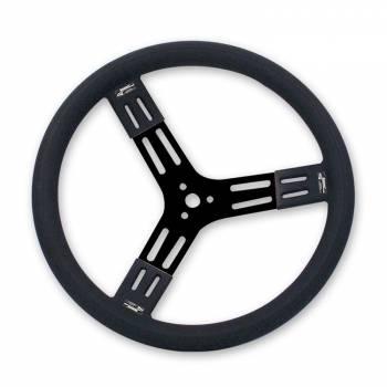 "Longacre Racing Products - Longacre 15"" Fat Grip Aluminum Steering Wheel - Black"