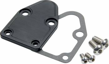 Allstar Performance - Allstar Performance SB Chevy Fuel Pump Block-Off Plate - Black