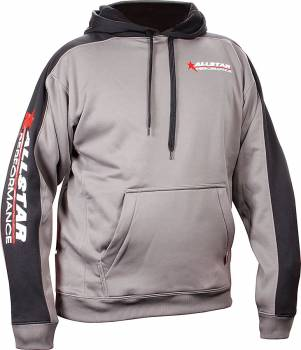 Allstar Performance - Allstar Performance Allstar Hooded Sweatshirt Silver/Black, Small