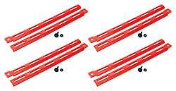 Allstar Performance - Allstar Performance Plastic Body Brace - Red (Pack of 4)