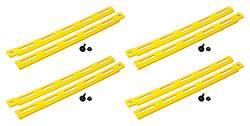 Allstar Performance - Allstar Performance Plastic Body Brace - Yellow (Pack of 4)