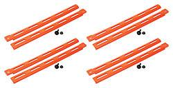 Allstar Performance - Allstar Performance Plastic Body Brace - Fluorescent Orange (Pack of 4)