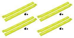 Allstar Performance - Allstar Performance Plastic Body Brace - Fluorescent Yellow (Pack of 4)