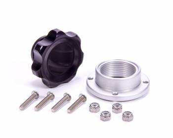 Allstar Performance - Allstar Performance Small Fill Plug Kit With Aluminum Bolt-On Bung - Black