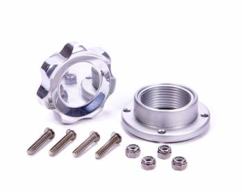 Allstar Performance - Allstar Performance Small Fill Plug Kit With Aluminum Bolt-On Bung - Polished