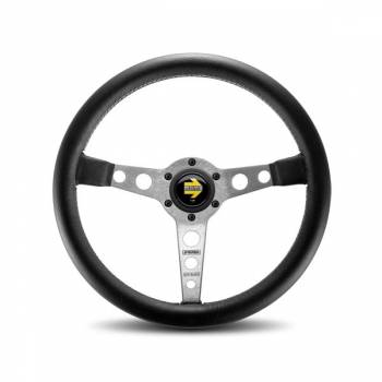 Momo - Momo Prototipo Steering Wheel - Leather - Silver Spoke