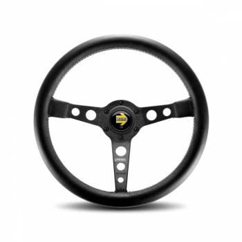 Momo - Momo Prototipo Steering Wheel - Leather - Black Spoke