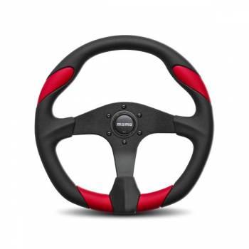 Momo - Momo Quark Steering Wheel Polyurethane - Blue Insert