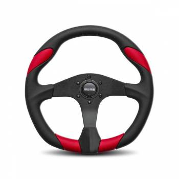 Momo - Momo Quark Steering Wheel Polyurethane - Red Insert