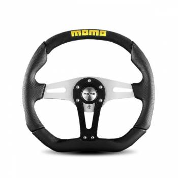 Momo - Momo Trek Steering Wheel - Black Leather/Airleather