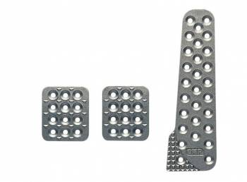 OMP Racing - OMP 3 Pedal Set w/ Long Gas Pedal - Sandblasted Aluminum
